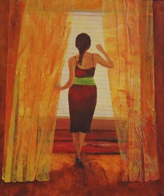 Dévoilée, Technique mixte, 40 x 46 cm, 2008 (disponible)