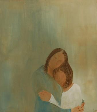 Tendresse, Acrylique, 42 x 48 cm, 2008 (disponible)