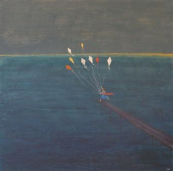 Envolée, Technique mixte, 80 x 80 cm, 2009 (indisponible)