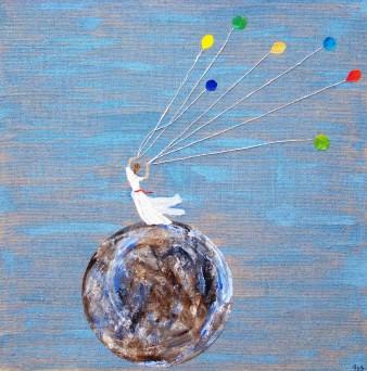 Désir de légèreté, Technique mixte, 80 x 80 cm, 2009 (disponible)