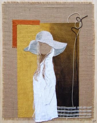 Ebauche d'une rencontre, Technique mixte, 54 x 68 cm, 2009 (indisponible)