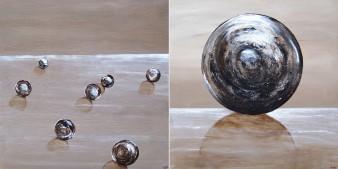 Immobilité sur le rivage, Technique mixte, 50 x 50 cm(x2), 2010 (indisponible)