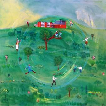 Métis 1, Technique mixte, 100 x 100 cm, 2010 (commande)