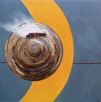 Métis 2, Technique mixte, 100 x 100 cm, 2010 (indisponible)