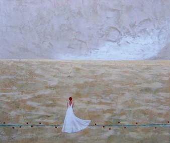 Un souffle sur la plaine s'élève, Peinture minérale, 60 x 70 cm, 2011 (indisponible)