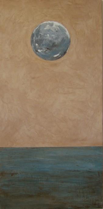 La Terre sommeille, peinture minérale, 60X122 cm,2012 (indisponible)