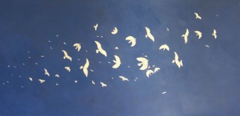 Envol, Peinture minérale, 122 x 60 cm, 2011 (indisponible)
