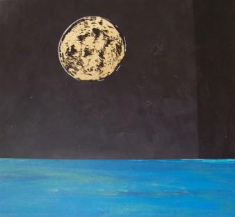 Décroissante,peinture minérale,40×40 cm,2017(disponible)