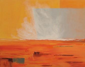 Le soleil jetant son averse de feu, acrylique,100 x 80 cm, (indisponible)