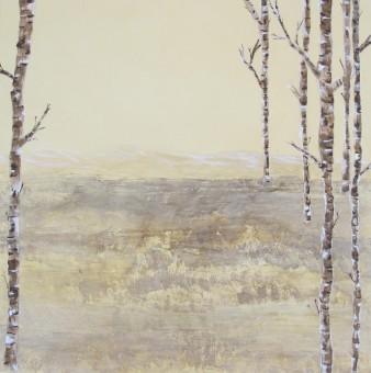 Terre lointaine, Peinture minérale, 40 x 40 cm, 2012 (indisponible)