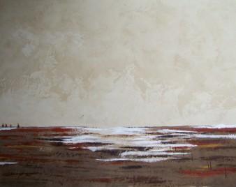 Grands espaces, Peinture minérale, 100 x 80 cm, 2013 (indisponible)