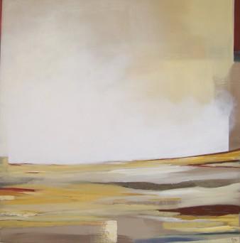 Terre lointaine, Technique mixte, 80 x 80 cm, 2013 (indisponible)