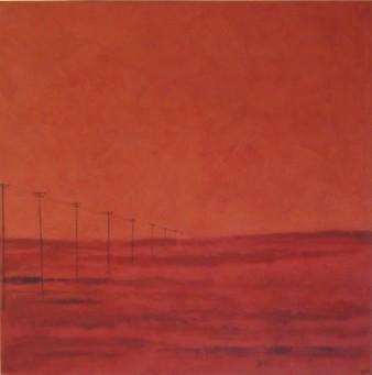 Terre oubliée, Peinture minérale, 80 x 80 cm, 2013 (indisponible)