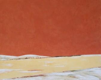 Un long fleuve tranquille,Peinture minérale,100×80 cm, 2013(disponible)