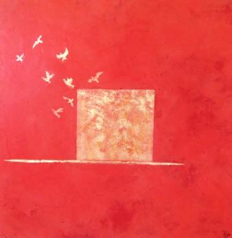 Allégorie, Peinture minérale, 40 x 40 cm, 2013 (indisponible)