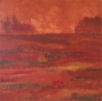 Soir d'automne, Peinture minérale, 60 x 60 cm, 2013 (indisponible)