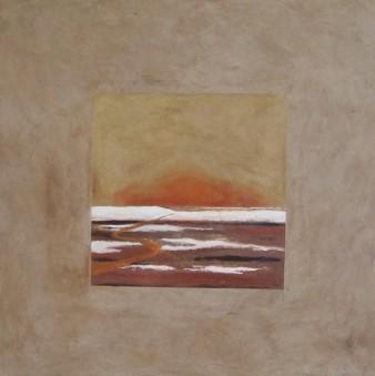 Appel du couchant, peinture minérale, 80X80 cm, 2014 (indisponible)