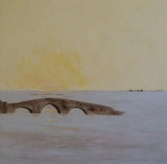 Terre oubliée, peinture minérale, 80×80 cm, 2014 (indisponible)