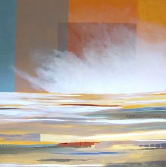 Symphonie du soir, acrylique, 100×100 cm, 2014 (indisponible)