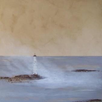 Corne de brume,peinture minérale, 80×80 cm,2014 (indisponible)