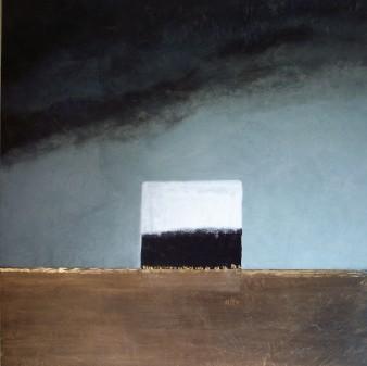 Un matin se lève,peinture minérale,80x80cm,2017(disponible)