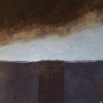 La terre s'éveille, peinture minérale,80×80 cm,2014 (indisponible)