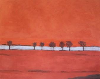 s'écoulent les jours, peinture minérale,100×80 cm, 2014 (indisponible)