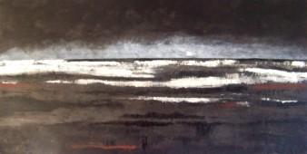 Frimas d'hiver, peinture minérale,82×42 cm, 2014 (indisponible)