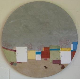 Sonatine, peinture minérale, diam : 80cm, 2015 (indisponible)