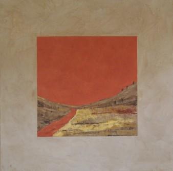 En partence, peinture minérale, 80 x 80 cm, 2015 (indisponible)