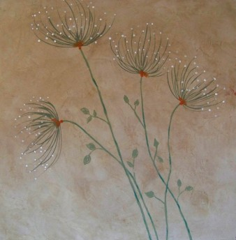 Douce nature,Peinture minérale,60 X 60 cm, 2015 (disponible)