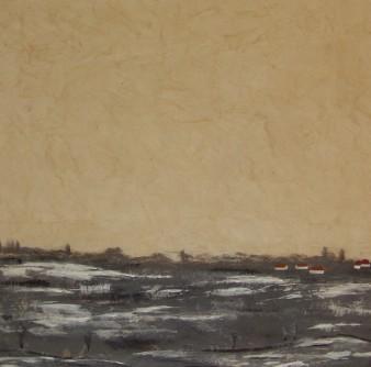 Fonte des neiges, 40×40 cm, Peinture minérale, 2016 (indisponible)