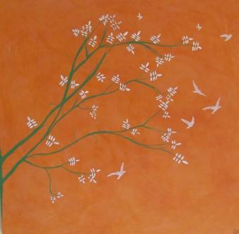 Primavera,peinture minérale,60×60 cm, 2016(disponible)