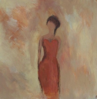 Mystérieuse,acrylique,40x40cm,2016(indisponible)