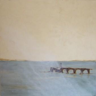 Vestiges oubliés, peinture minérale,2016,80x80cm,(disponible)
