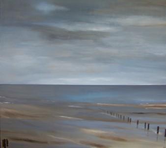 Le calme après l'orage,acrylique,90×80 cm,2016(indisponible)