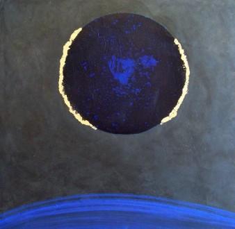 Cosmos, peinture minérale,2017, 80x80cm (indisponible)