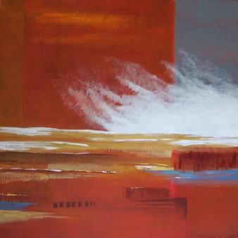 Le vent se lève, peinture minérale,80×80 cm, 2017(indisponible)
