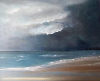 Menace de tempête, acrylique, 70/60 cm,2018( indisponible)