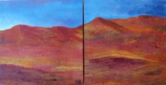 Désert rouge,technique mixte,2X20/20 cm,2019 (disponible)