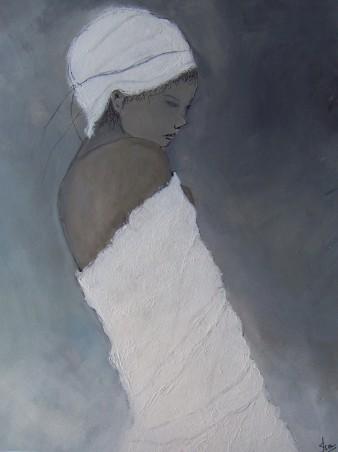Intime,acrylique,25×32 cm,2019 (disponible)
